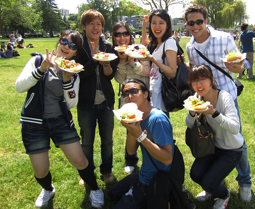 ESL students and teachers at summer BBQ