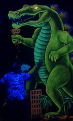 tyrannosaurus, dinosaur, illustration,