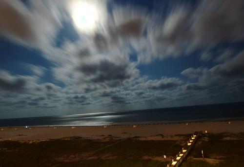 ocean longexposure beach night clouds alabama