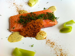 salmon, fish, garnish, food, dish, cuisine, smoked salmon,