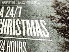 SAoS - New World Arts' A 24/7 Christmas Festival poster - Detail