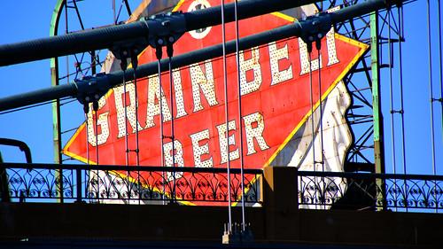 Grain Belt Sign - Minneapolis River Boat Tour