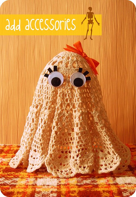 doily ghost tutorial: finished!