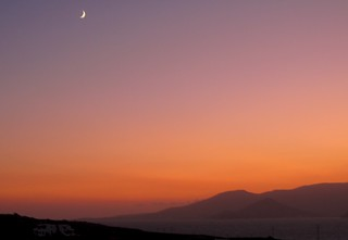 Sunset over Naxos and Paros