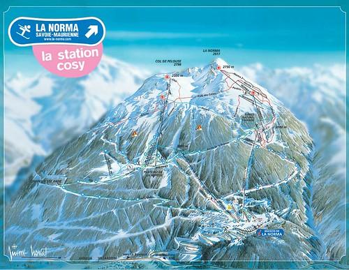 La Norma - mapa sjezdovek
