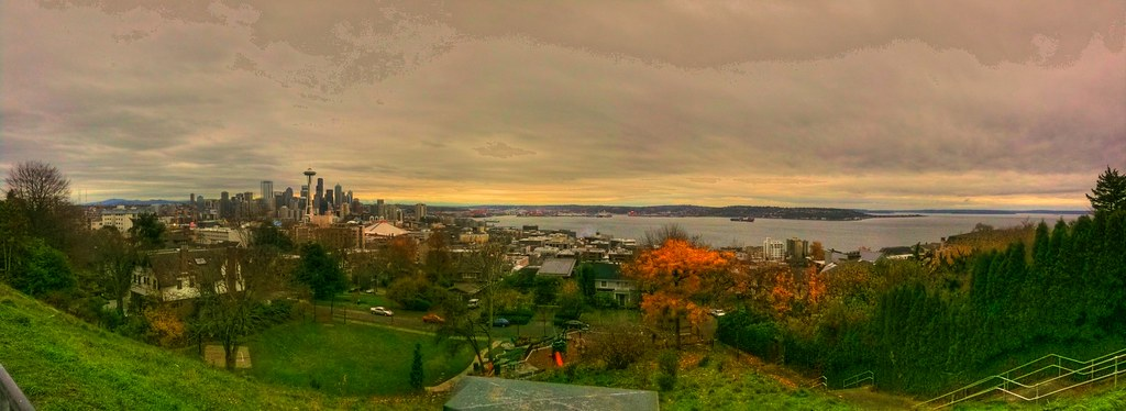 Kerry Park View Point, Queen Anne Hill