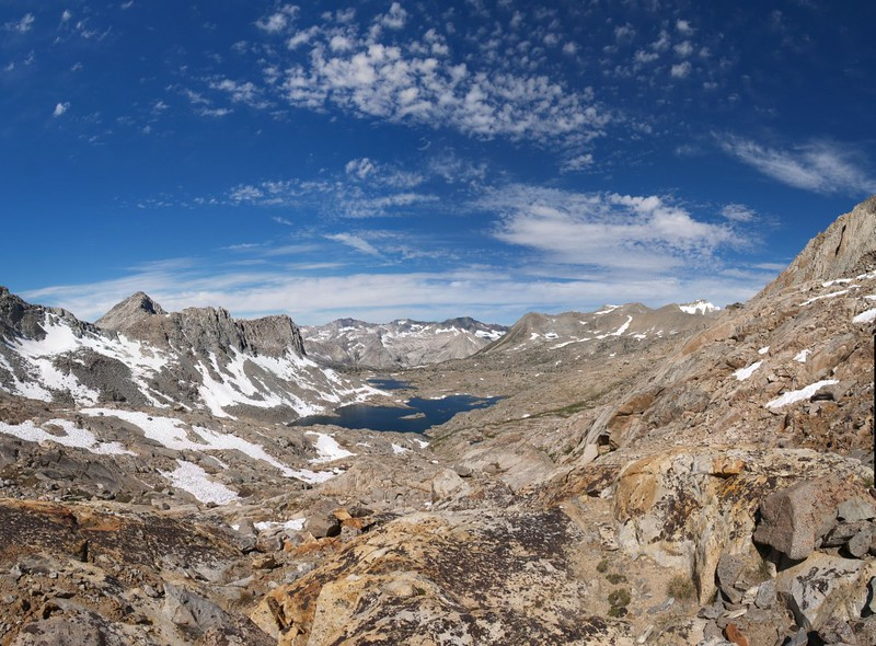 Dusy Basin panorama from below Mount Winchell