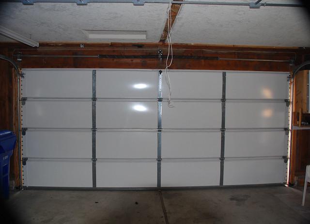 Double doors double wide garage door for Garage door widths double