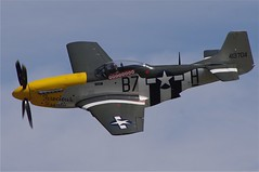 north american t-28 trojan(0.0), vought f4u corsair(0.0), grumman f8f bearcat(0.0), curtiss p-40 warhawk(0.0), focke-wulf fw 190(0.0), monoplane(1.0), aviation(1.0), airplane(1.0), propeller driven aircraft(1.0), vehicle(1.0), north american p-51 mustang(1.0), air racing(1.0), fighter aircraft(1.0), propeller(1.0), flight(1.0), air show(1.0),