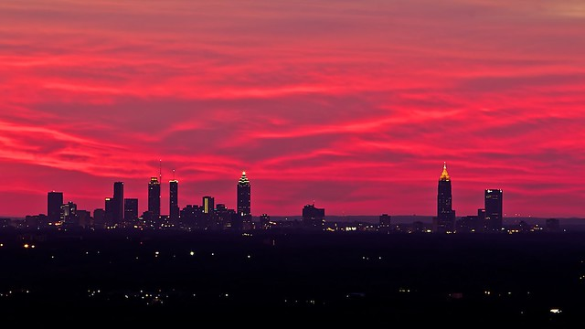 Atlanta Sunset Cityscape