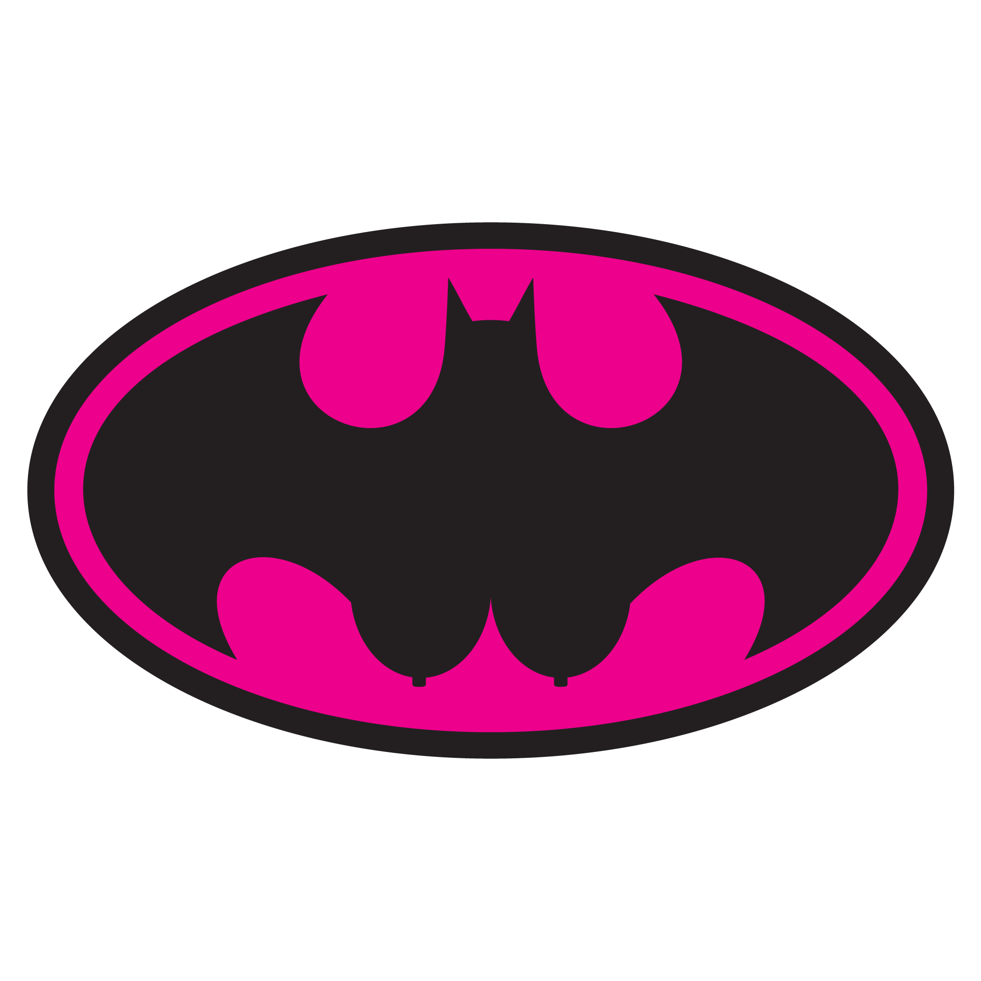 It's just a picture of Gorgeous Batgirl Logo Printable