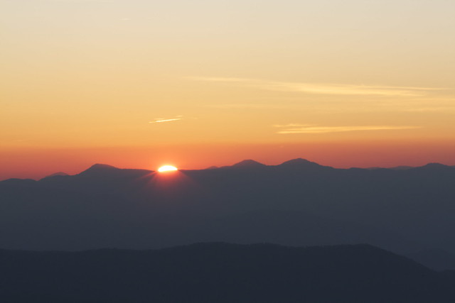 Sunrise at Clingman's Dome,