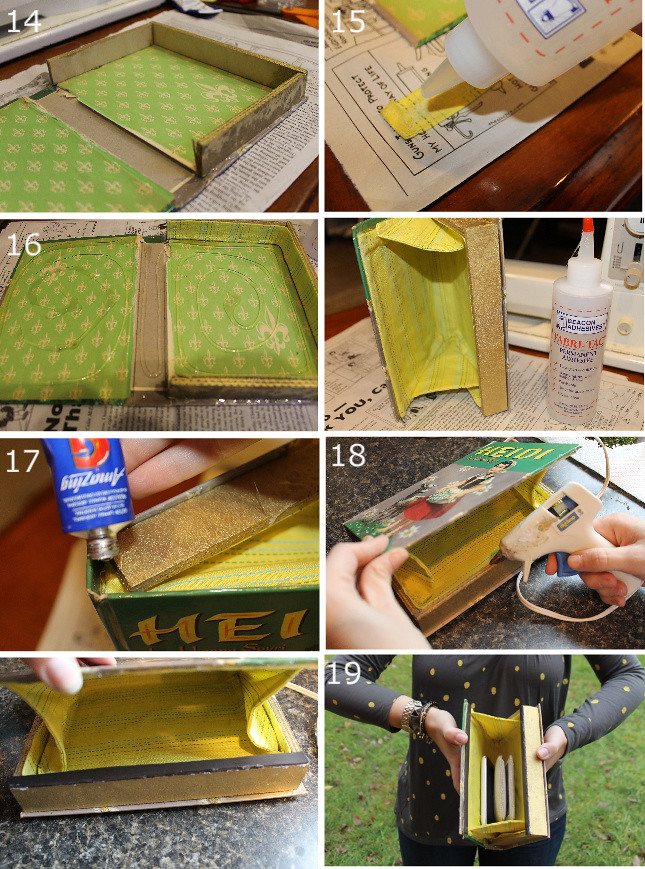 How To Make A Book Clutch With Zipper : Bookish and belle di fr yday how to make a book clutch