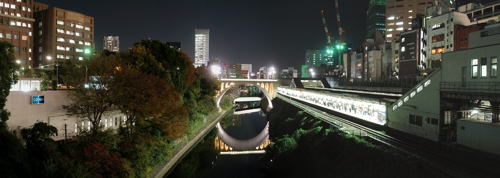Hijiribashi (Hijiri bridge) and JR Ochanomizu station. (small ver.)