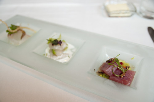 Three Preparations of Sashimi, A Taste of Ame, Ame Restaurant, San Francisco