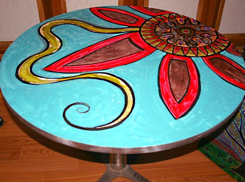 "42"" Round Dining Table by Rick Cheadle Art and Designs"