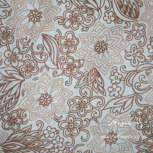 Vintage sheet - brown geometric floral