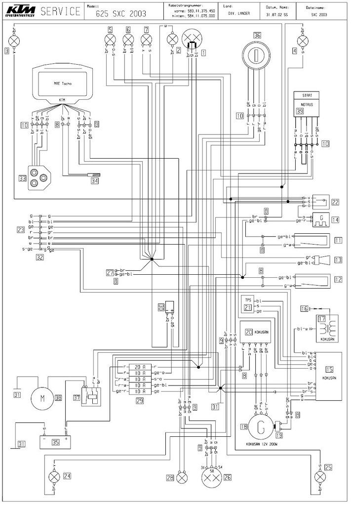ktm 625 sxc wiring diagram adventure rider