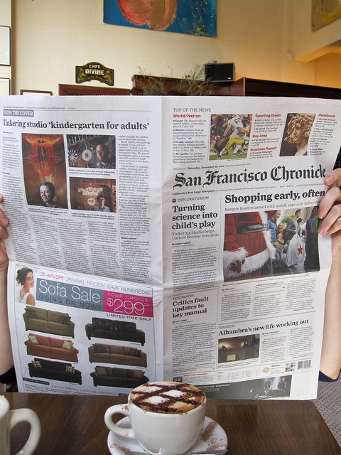 The Tinkering Studio in the SF Chronicle