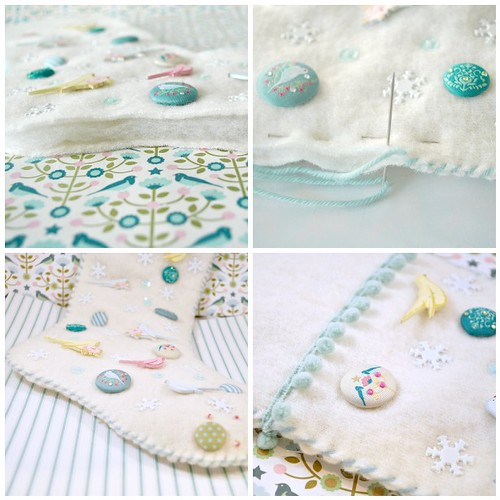 Embellished stocking steps 9-12