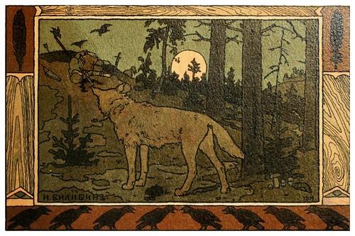 016-Los cuentos de de Iván zarevich, El pájaro de fuego y el lobo gris 1899- Ivan Jakovlevich Bilibin