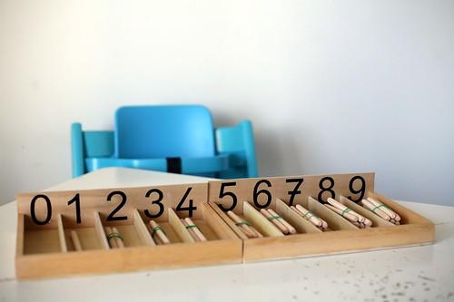 Boites des fuseaux Montessori