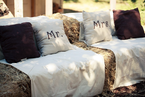 Hay Couches and Mr. & Mrs. Pillows