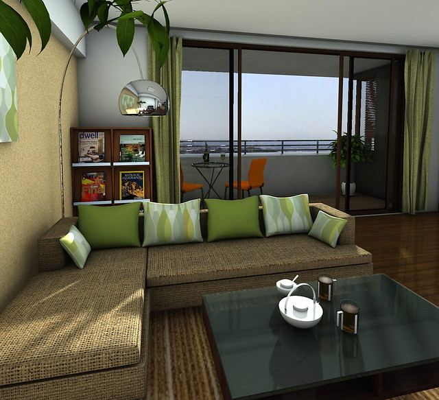 Interior design living room and balcony 12072240 flickr for Balcony living room design