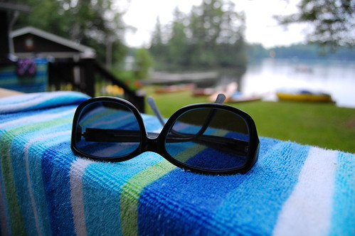 Sunglasses and Beach Towel