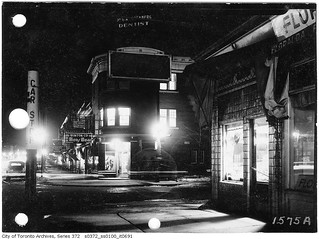 Glenholme and St. Clair Avenue, night scene