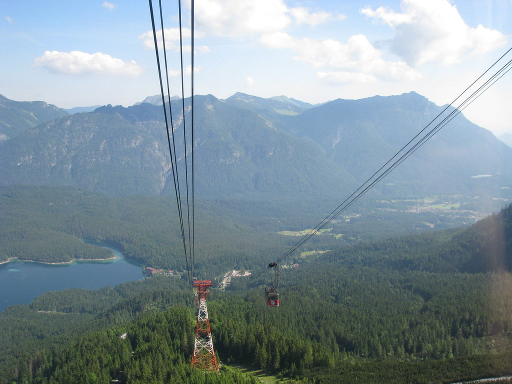 the lift to Zugspitze.