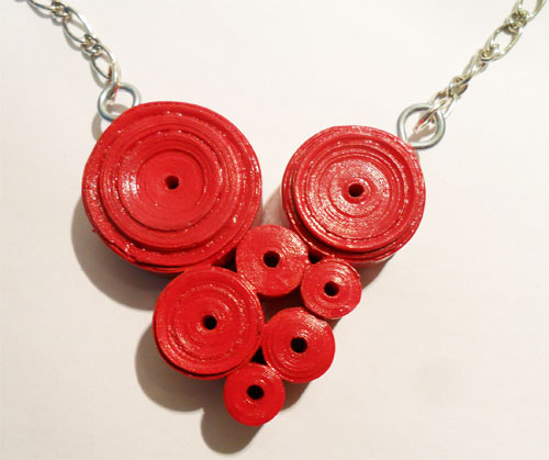 Paper Jewellery Necklace Paper Heart Necklace Flickr