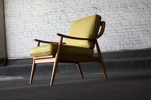 Graceful Danish Modern Lounge Chair-- Peter Hvidt & Orla Mølgaard-Nielsen (France & Sons, Denmark 1950's)