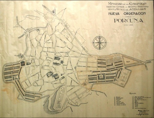 Plano de Ordenación de Porcuna. 1941. Ramón Pajares
