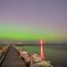 Aurora Borealis over Lake Ontario (4.5 minute exposure) by Steelopus