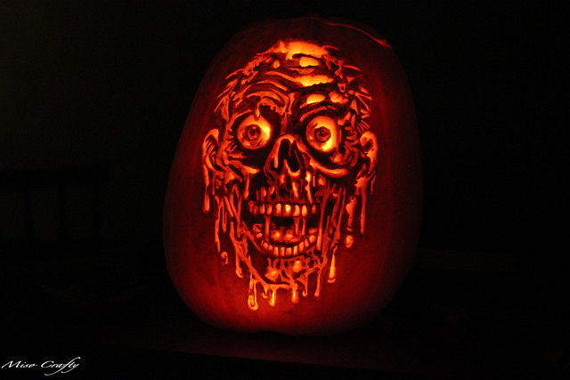 Halloween 2011 - Melting Face Pumpkin