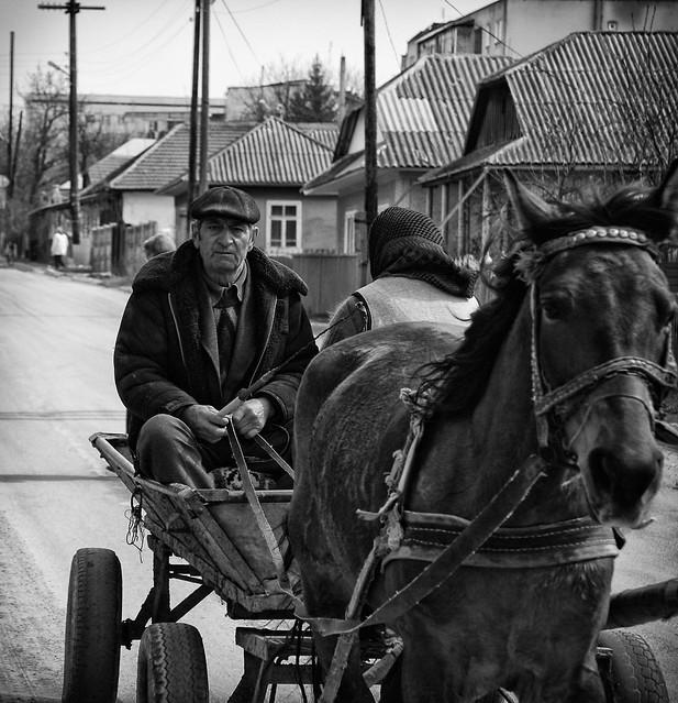 farmer in Moldovan village by CC user leonfishman on Flickr