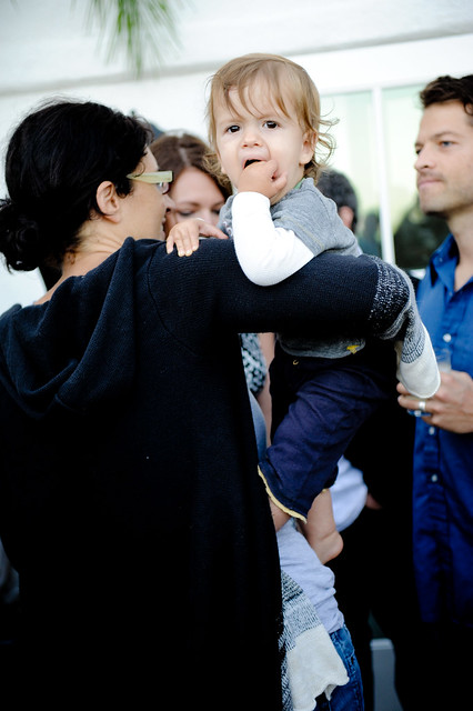 Misha Collins' son hams it up for the camera. | Flickr ...