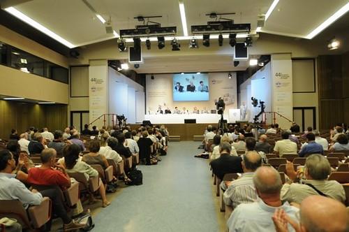 Un'immagine della sala