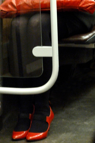 """Red shoes, red bag"" - Brussels, Belgium 2011"