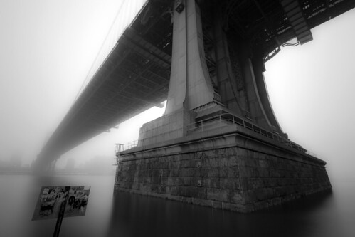 Manhattan Bridge in the Fog
