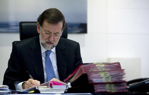 Mariano Rajoy en su despacho