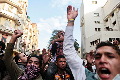 Egyptian youth rally and march to demand an end to the dictatorial rule of the US-backed Supreme Military Council. Over 30 people have died since November 18, 2011. by Pan-African News Wire File Photos