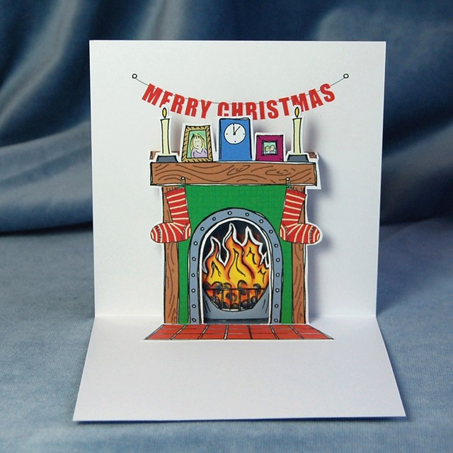 flaming good christmas - pop up card (inside)