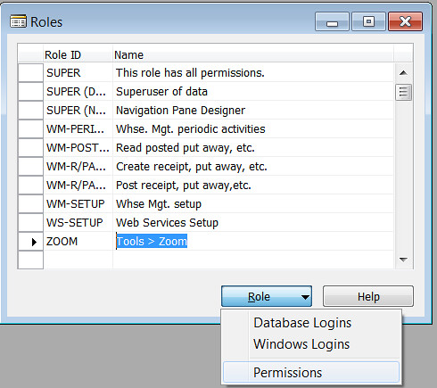 Tools Zoom - Click Role Permissions