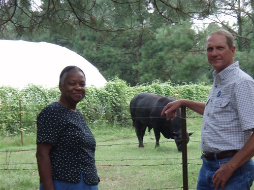 Mary McGee (left) and NRCS Soil Conservationist Murray Fulton have worked together to ensure McGee's farm is more productive and environmentally friendly.