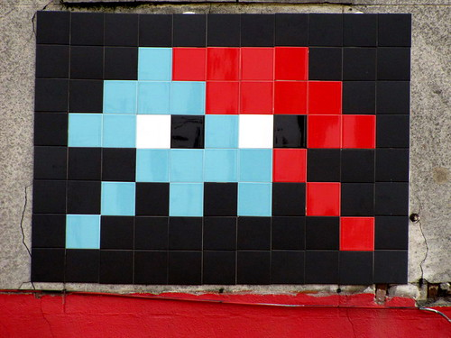 street art & graffiti Brussels - Space Invader by _Kriebel_
