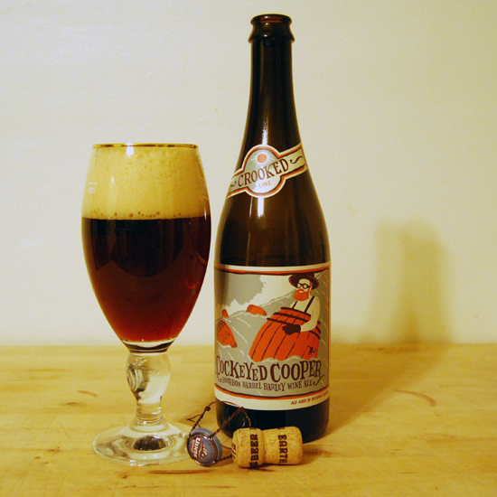 Cockeyed cooper bourbon barrel aged barley wine there for Coopers craft bourbon review