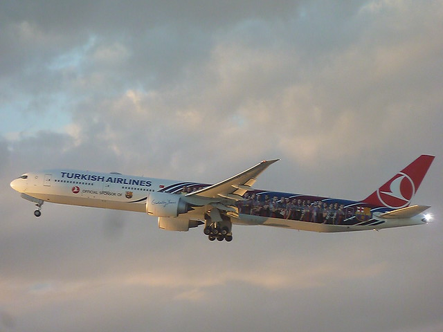 Turkish Airlines Special Livery jet taken in the skies over LAX in Los Angeles, California