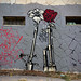 """Street Art: Austin, TX Shepard Fairey """"M16 vs AK47"""""""